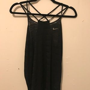 Nike workout tank with cross detail